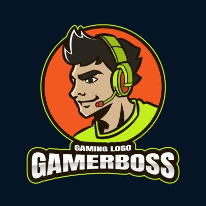 Gaming Logo Maker Featuring Profile Illustrations of Gamers 3118-el1