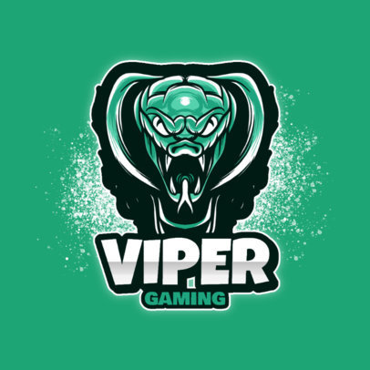 Gaming Logo Template with a Frightening Viper Mascot 3122c-el1