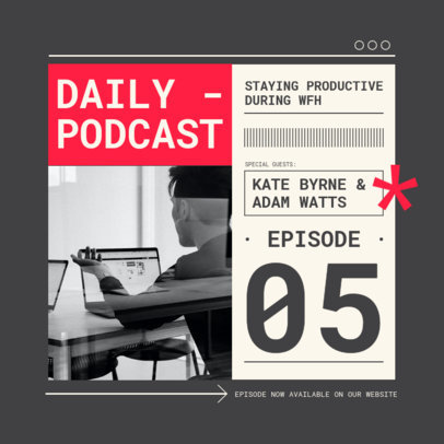Instagram Post Design Template for a Daily Podcast 3070-el1