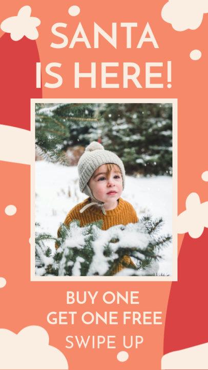 Instagram Story Generator for a Kids Apparel Christmas Promo 3085h