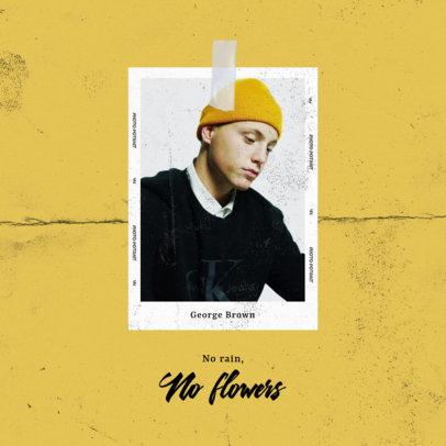 Album Cover Design Template for an Alternative Hip-Hop Project 3110d-el1
