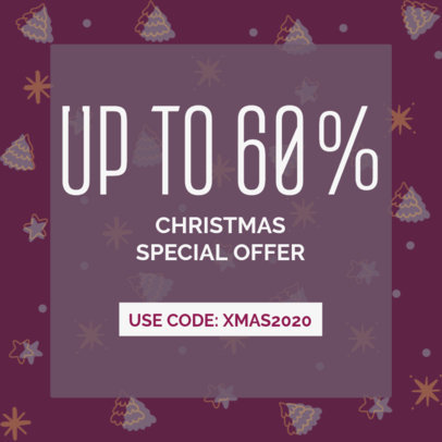 Ad Banner Template to Announce a Xmas Special Offer 3088i