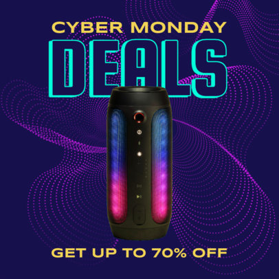 Instagram Post Generator for a Special Cyber Monday Deal on Technology Products 3100f