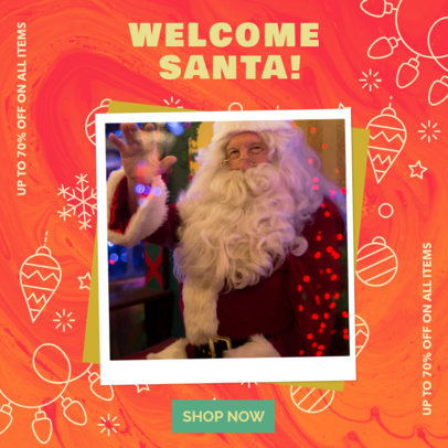 Instagram Post Maker with Festive Christmas Graphics for a Store's Sales 3086f