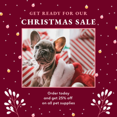 Cute Instagram Post Template for a Store's Christmas Sale 3087g