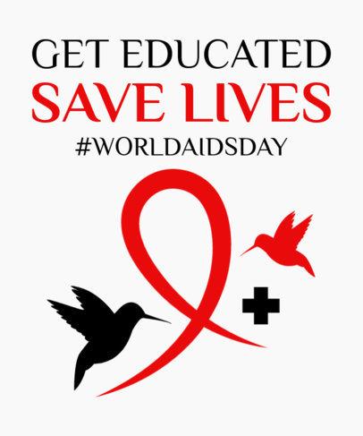 T-Shirt Design Generator to Raise Awareness About AIDS 3097d