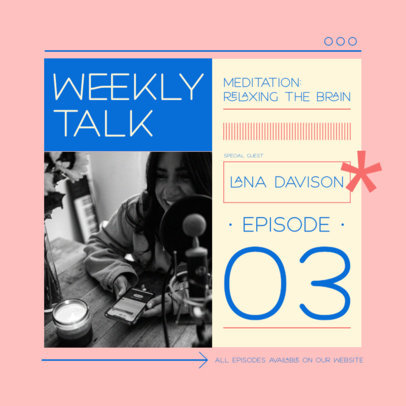 Instagram Post Design Template for a Weekly Meditation Podcast 3070a-el1