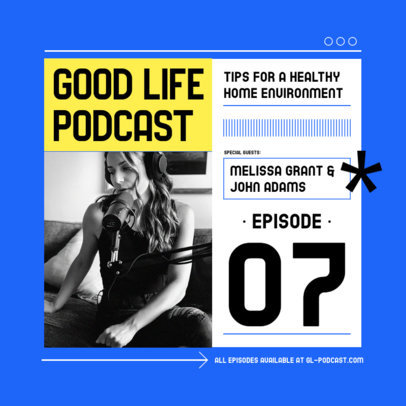 Trendy Instagram Post Design Template for a Wellness Podcast 3070d-el1