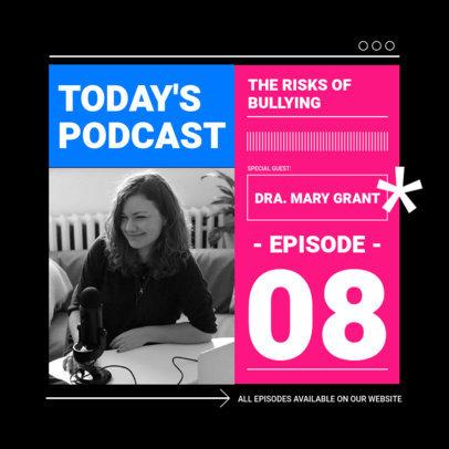 Instagram Post Design Maker for a Psychology-Themed Podcast 3070e-el1