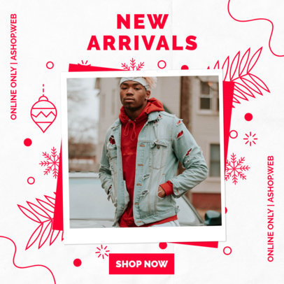Instagram Post Creator for New Arrivals on Winter Season 3086d