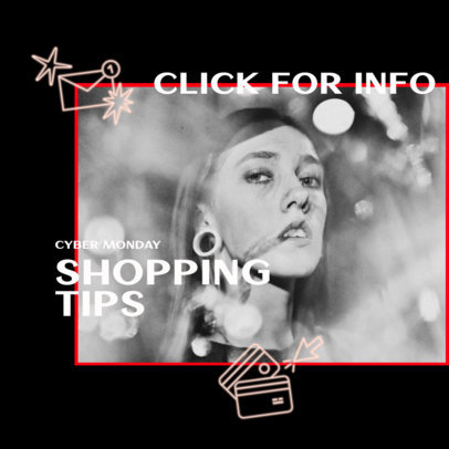 Ad Banner Creator for Shopping Tips on Cyber Monday 3101a
