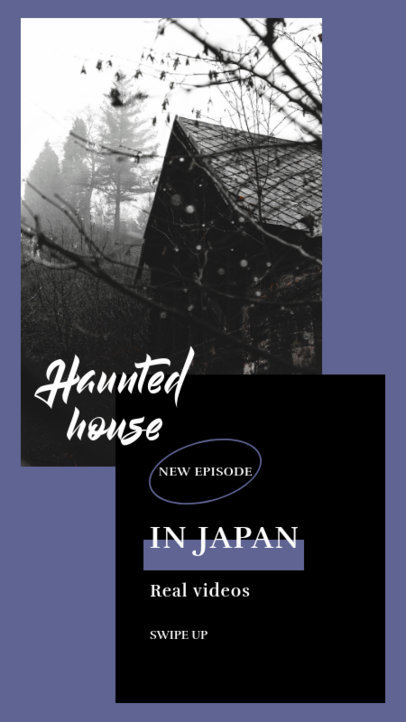 Instagram Story Maker for a Podcast Episode About Haunted Houses 3104e-el1