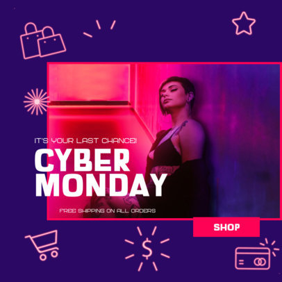 Cool Ad Banner Generator to Promote Cyber Monday Sales 3101f
