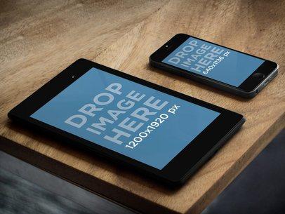 Google Nexus 7 Vs Apple iPhone 5s Grey On Terrace Table