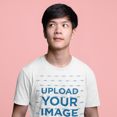 T-Shirt Mockup of a Young Man Standing in a Studio 44410-r-el2