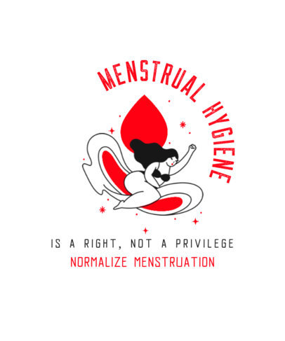 T-Shirt Design Creator to Raise Awareness of Menstrual Hygiene 3126b
