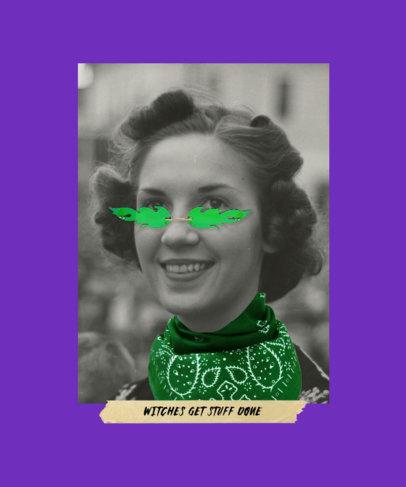 T-Shirt Design Generator Featuring a Feminist Vintage Collage 3132c