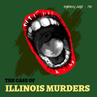 Podcast Cover Maker for an Episode About a Crime Story 3124e