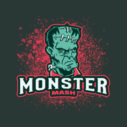 Gaming Logo Maker with Illustrations of Classic Movie Monsters 3814