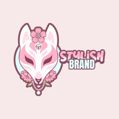 Clothing Brand Logo Maker Featuring a Trendy Animal Mask Illustration 3803g