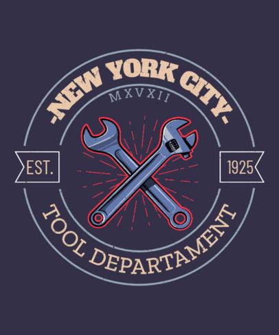 T-Shirt Design Generator Featuring a Badge for a Biker's Club 3132f