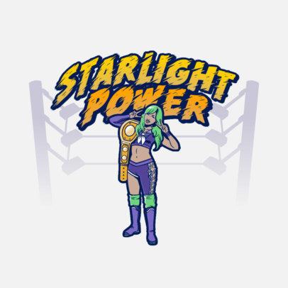 Logo Generator of a Professional Female Wrestler 3608c