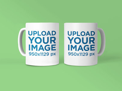 Mockup Featuring Two Customizable 11 oz Mugs 42373-r-el2