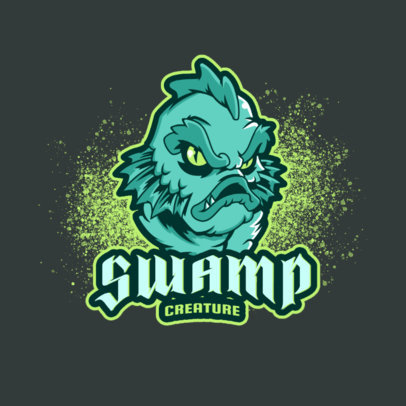 Illustrated Logo Generator Featuring a Monstrous Sea Creature 3814c