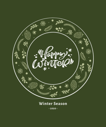 Beautiful Winter-Themed T-Shirt Design Generator 3154e-el1