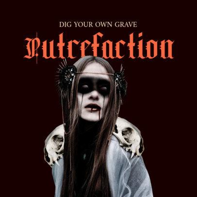 Punk Album Cover Template Featuring a Dark Woman Graphic 3146b