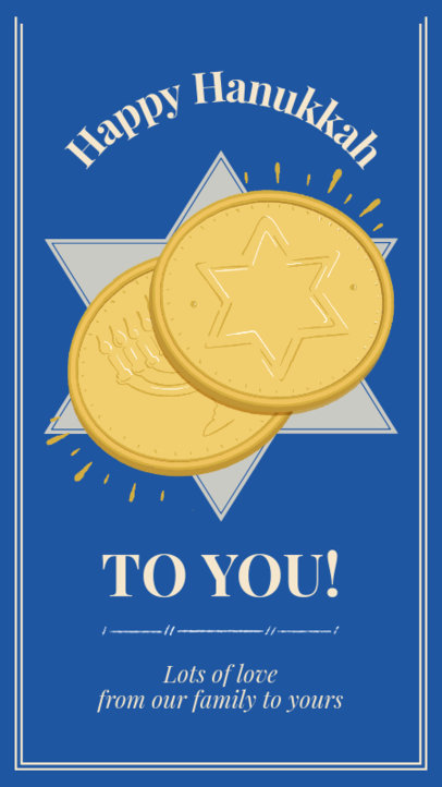 Instagram Story Maker Featuring Gold Coins for a Happy Hanukkah Celebration 3152e