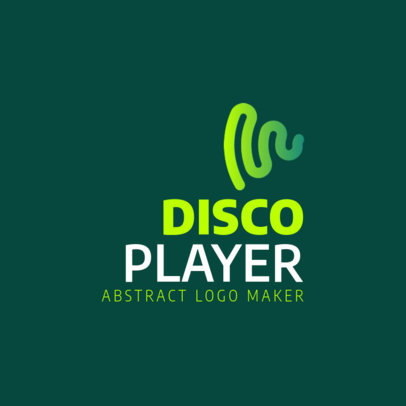 Logo Creator for a Disco Music Player with an Abstract Icon 3832e