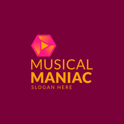 Logo Generator for a Musician with a Simple Geometric Graphic 3832h
