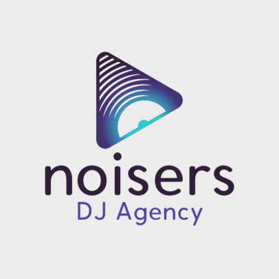 Music Logo Template for a DJ Agency 3833f