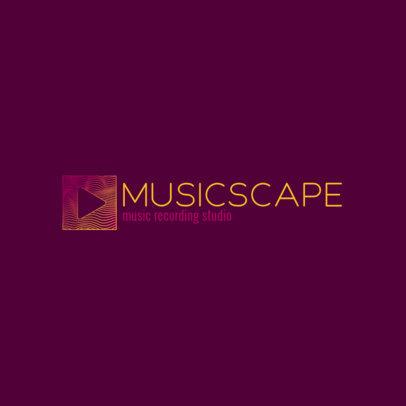 Online Logo Generator for a Music Recording Studio 3833i