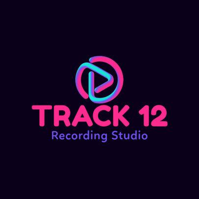 Recording Studio Logo Generator Featuring Abstract Music Graphics 3833l