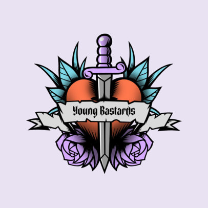 Logo Maker for Urban Clothing Stores Featuring Tattoo-Like Hearts 3862