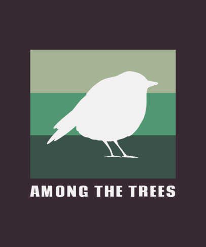 Animal T-Shirt Design Template Featuring a Cute Bird Silhouette 3187b-el1