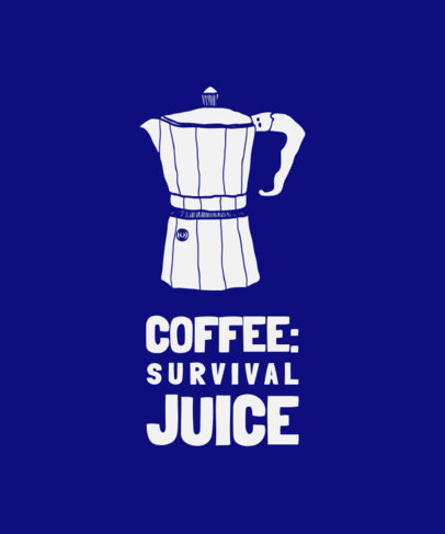 T-Shirt Design Maker Featuring a Stovetop Coffee Percolator Clipart 3189a-el1