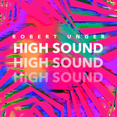 Dance Album Cover Maker with a Digital Glitch-Style Background 3159e
