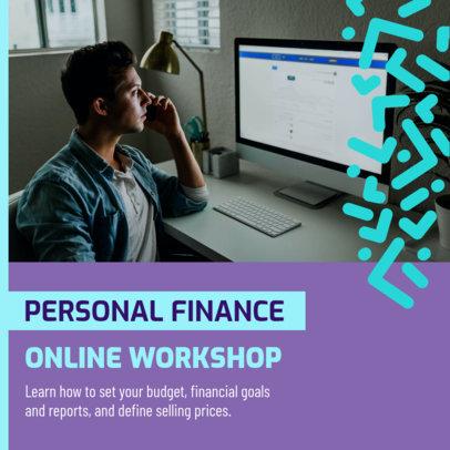 Modern Instagram Post Maker for a Personal Finances Workshop 3169b