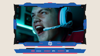 Twitch Overlay Design Creator for Gamers Featuring a Frame with Scores 3218c-el1