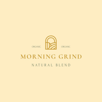 Coffee Brand Logo Template Featuring Minimal Graphics 3852e