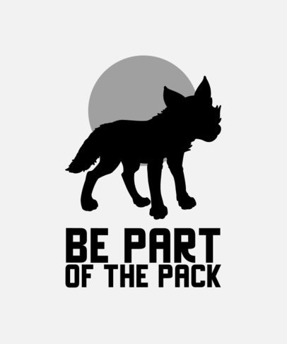 T-Shirt Design Maker Featuring the Silhouette of a Wolf 3191B-el1