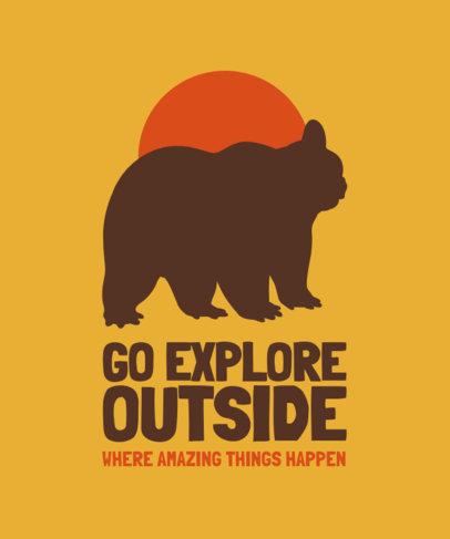 Quote T-Shirt Design Creator with a Bear Silhouette 3191E-el1