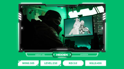 Gaming Twitch Overlay Generator with a Webcam Frame for Live Reactions 3220b-el1