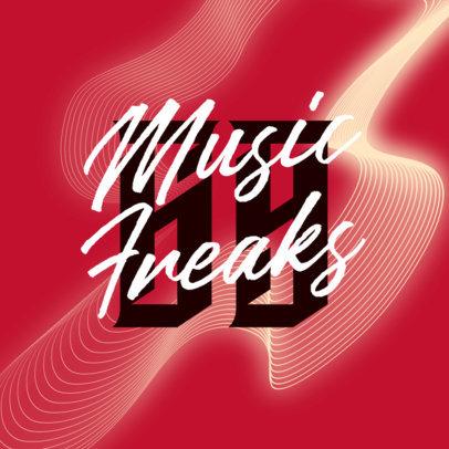 Dance Music Logo Maker Featuring a Wavy Texture 3854g