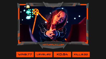 Twitch Overlay Design Template Featuring a Scoreboard and Neon Colors 3224a-el1