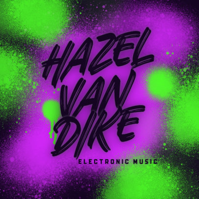 Electronic Music Logo Maker Featuring a Graffiti Style Background 3855a