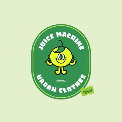 Streetwear Logo Maker Featuring a Cute Lemon Cartoon 3850f